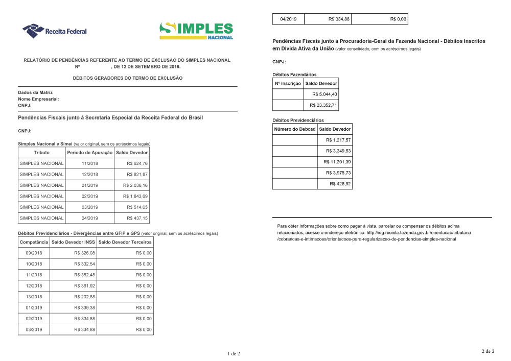 Empresas tem até dia 12 de dezembro para solicitar o parcelamento de débitos do Simples Nacional