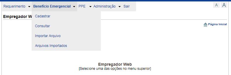 Benefício Emergencial Empregador Web