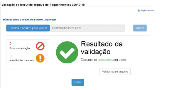 Confira a validação do Empregador Web para se certificar