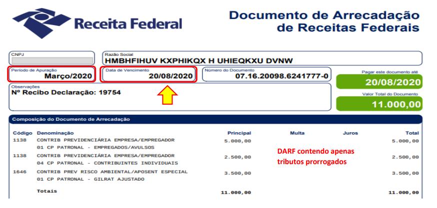 Quitar débitos prorrogados na DCTFWeb