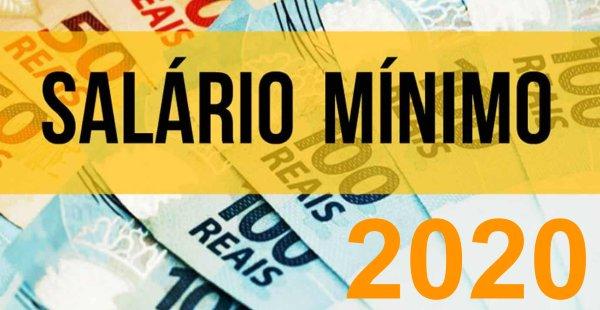 Resultado de imagem para salario minimo 2020