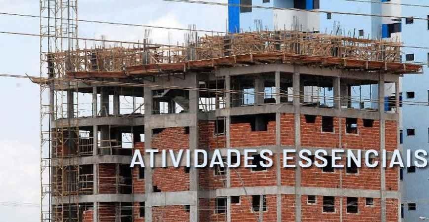 Decreto 10.342 inclui construção civil e outras atividades como essenciais